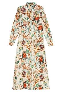 Длинное платье-рубашка Alberta Ferretti