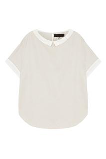 Серая блузка с белыми деталями Tegin