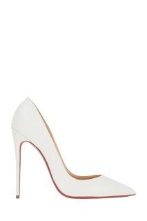 Белые кожаные туфли Corneille 100 Christian Louboutin