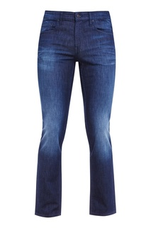 Синие потертые джинсы Boss Orange