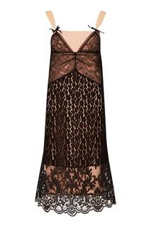 Кружевное платье-комбинация No.21