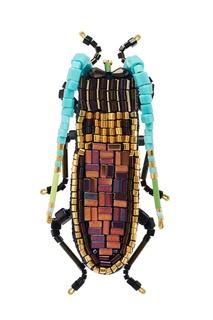 Брошь в виде жука «Сингапурский усач» Peresvetti