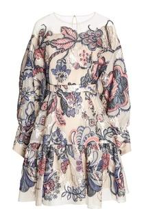 Платье из узорчатого жаккарда с люрексом Alena Akhmadullina
