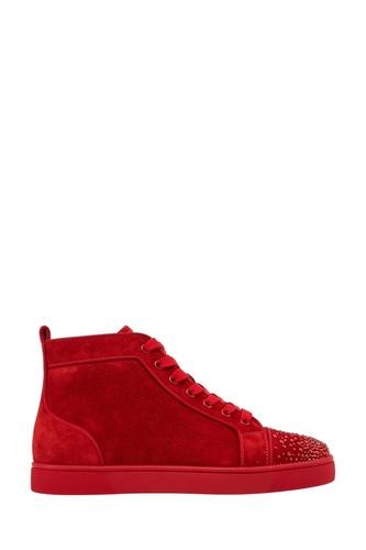 Красные замшевые кеды Lou New Degra