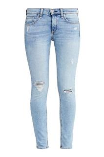Голубые джинсы с потертостями Rag&Bone
