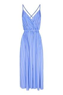Синее платье в полоску Erika Cavallini