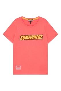 Розовая футболка из хлопка Somewhere Marc Jacobs