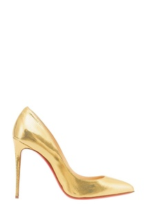 Золотистые туфли Pigalle Follies 100 Christian Louboutin