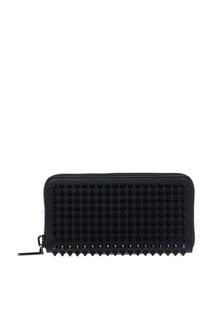Черный кошелек Panettone с шипами Christian Louboutin