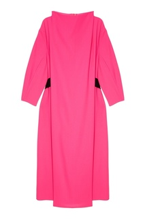 Розовое платье с черным поясом Adolfo Dominguez