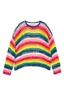 Разноцветный ажурный джемпер Mira Mikati
