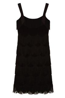 Черное платье с бахромой Marc Jacobs
