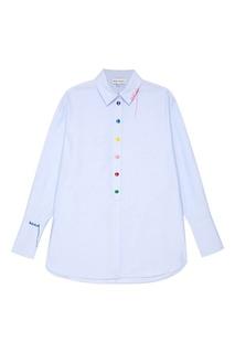 Хлопковая рубашка с вышивкой на спине Mira Mikati