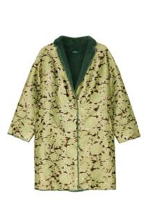 Жаккардовое пальто на норковой подкладке Alena Akhmadullina