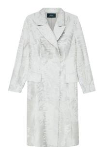 Пальто из каракульчи светло-бирюзового цвета Alena Akhmadullina
