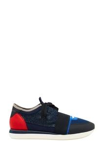 Синие комбинированные кроссовки Lola Cruz