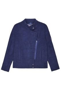 Синяя меланжевая куртка Novaya