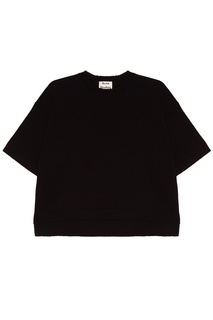 Черная хлопковая футболка Lylyt Acne Studios