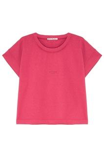 Розовая хлопковая футболка Tohnek Acne Studios