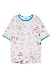 Хлопковая футболка с принтом Mira Mikati
