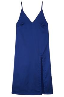 Платье-комбинация из синего атласа Artem Krivda
