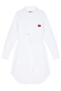 Белое платье-рубашка с поясом Essentiel Antwerp