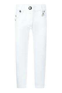 Белые джинсы с подвеской Dior Children