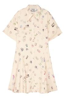 Платье-рубашка с принтом Marald Acne Studios