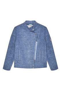 Голубая меланжевая куртка Novaya