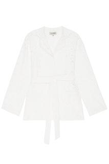 Брючный костюм из белого кружева A LA Russe