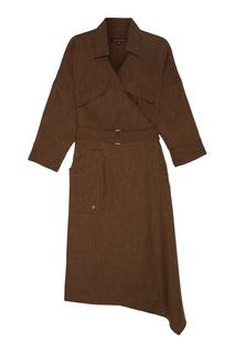Платье-рубашка цвета хаки Adolfo Dominguez