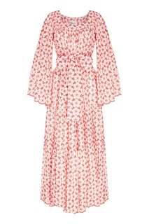 Хлопковое платье с вышитыми цветами Lisa Marie Fernandez