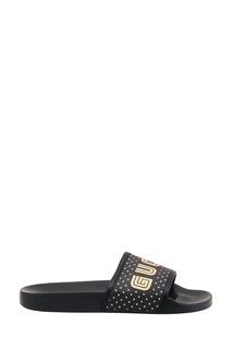 Черные сандалии с логотипом Gucci