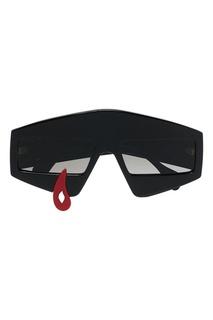 Черные очки с контрастным декором Gucci