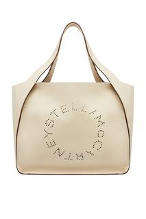 Белая сумка из эко-кожи с логотипом Stella Logo