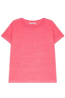 Розовая льняная футболка Eldora Acne Studios