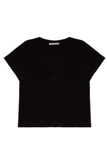 Черная хлопковая футболка Tohnek Acne Studios