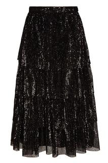 Черная юбка-миди с пайетками A LA Russe
