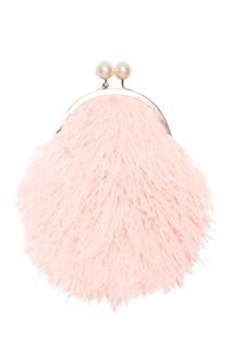 Клатч из розовых перьев марабу Ginger Esve