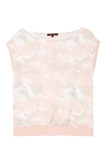 Розовая блузка с камуфляжным принтом Adolfo Dominguez