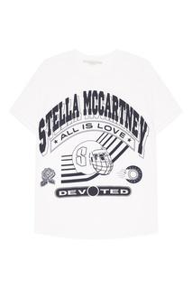 Белая футболка в хоккейном стиле Stella Mc Cartney