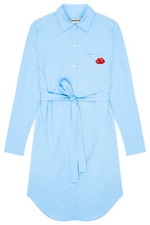 Голубое платье-рубашка с поясом Essentiel Antwerp