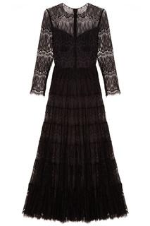 Черное кружевное платье A LA Russe
