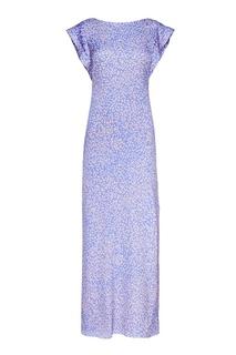 Шелковое платье-макси с принтом Alexander Terekhov