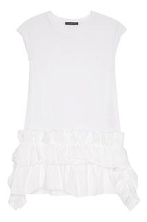 Белая блузка с драпировкой Alexander Mc Queen