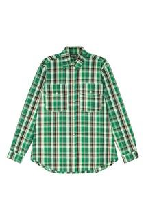 Зеленая хлопковая рубашка в клетку Artem Krivda