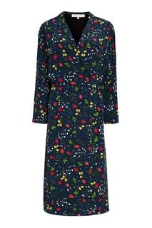 Шелковое платье-халат с ярким принтом Alexander Terekhov