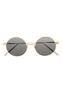 Круглые очки в золотистой оправе Scientist Acne Studios