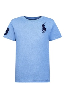 Голубая футболка с аппликацией Ralph Lauren Children