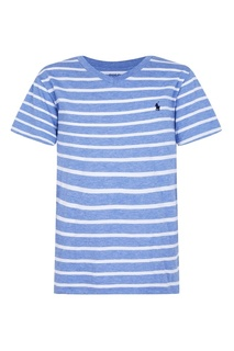 Голубая футболка в полоску Ralph Lauren Children